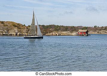 West coast Sweden during spring