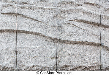 Granite uneven surface with imitation of folds