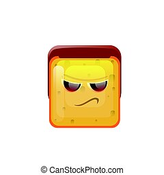 Smiling Emoticon Face Angry Emotion Icon Flat Vector...