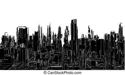 Futuristic Megalopolis City V...