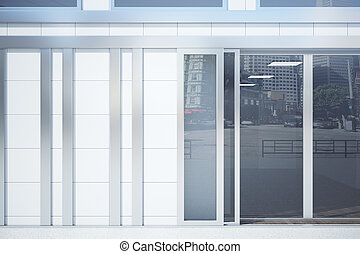Store front exterior with wall - Store front exterior with...