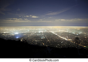 Pasadena Fog - Foggy night above Pasadena and Los Angeles...