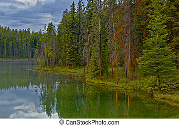 Herbert Lake, Banff National Park - HDR impression of...