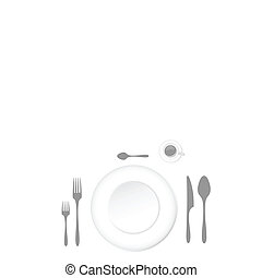 a table for lunch with accessories vector illustration