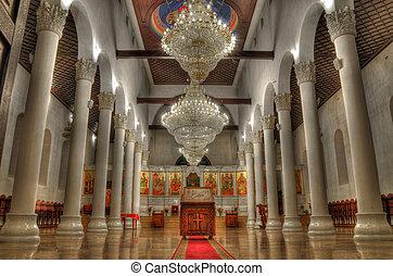 Church indoor - Indoor of an ortodox church in Skopje - Holy...