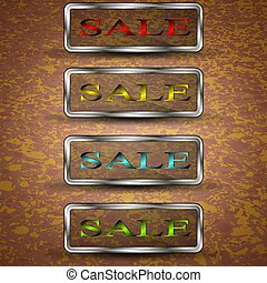 Set of sale buttons