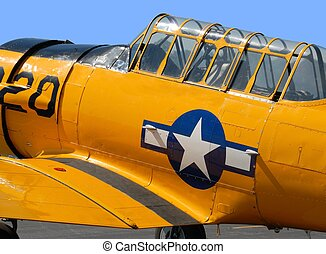 Vintage WWII airplane - World War II vintage figheter...