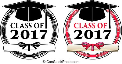 Graduating Class of 2017 - Vector is a design in color or in...