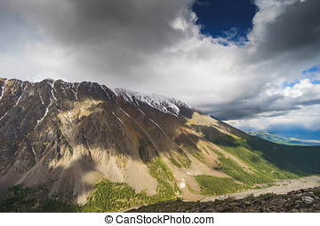 landscape with mountains. Republic Altay - landscape with...