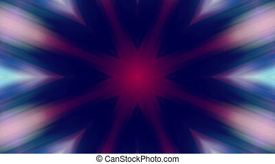 Multi colored kaleidoscopic VJ looping animated CG...