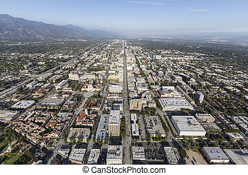 Pasadena Colorado Bl Aerial - Aerial view of Colorado Bl in...