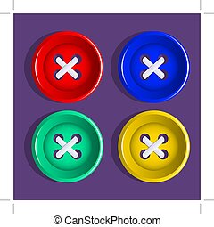 Buttons. Set of multicolored buttons. Vector.