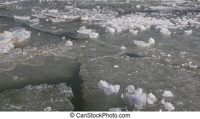 Ice sheets on water - Ice sheets of thawing sea