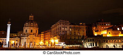 Imperial Forums, Rome, Italy - Night photo of Imperial...