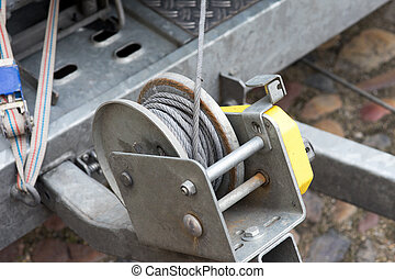 Cable winch with a steel cable