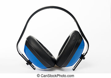 Ear protection on gray background