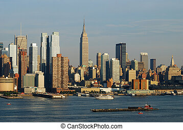Manhattan New York City skyline - Empire State Building with...