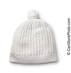 White winter knitted cap