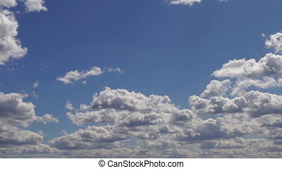 Sky summer clouds blue - Summer sky time lapse, moving...