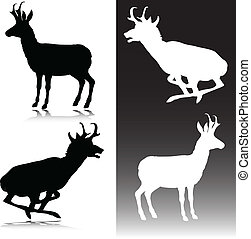antelope vector silhouettes