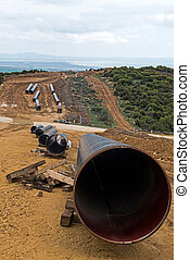 Gas pipeline construction in Greece.