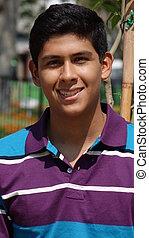 Diverse Minority Smiling Teen Boy