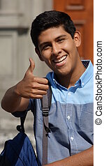 Hispanic Student Thumbs Up