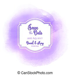 save the date watercolour design 1103 - Decorative save the...