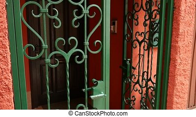 Forged metal products. Visor doors, gates, stair railings. -...