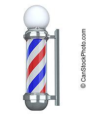 Barbershop Pole - 3D illustration