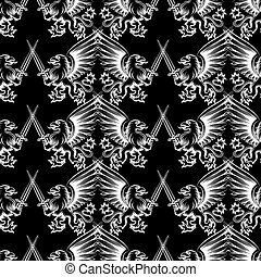 Seamless pattern heraldic gryphon - Seamless pattern with...