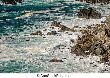 USA Pacific coast landscape, California - USA Pacific coast...