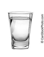 Vodka in vintage glass seven