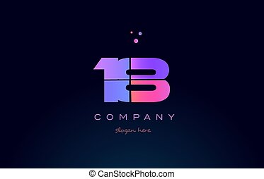18 eighteen pink magenta purple number digit numeral logo...