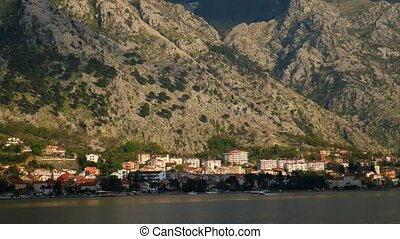 "City ""Dobrota"" in the Bay of Kotor, Montenegro - City..."