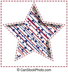 American star background. - American patriotic paper cut...
