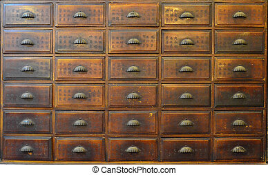 Traditional Chinese medicine cabinet - Antique Chinese...