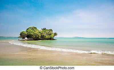 Little paradise island on Sri Lanka coast