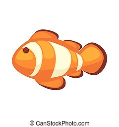 Clownfish or anemonefish vector illustration isolated on...