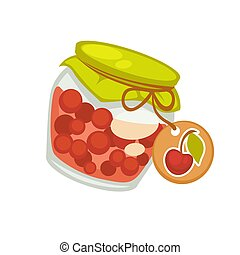 Preserved cherries canned or sealed for long-term storage in...