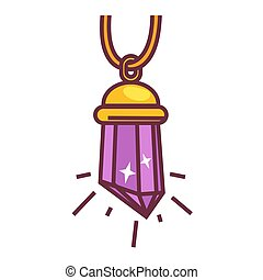 Crystal pendant accessory - Vector illustration of the...
