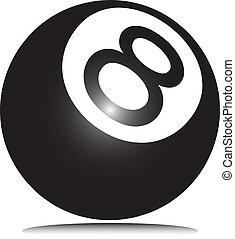 ball eight vector illustration