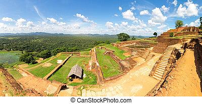 Sigiriya Sri Lanka, buddha temple, panoramic view world...