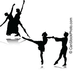 ballet vector illustration