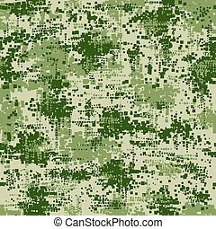 Military army uniform pixel seamless pattern. Vector...