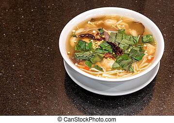 tom yum soup - mushroom tom yum spicy soup