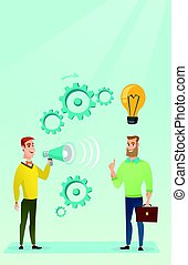 Announcement for business idea vector illustration -...
