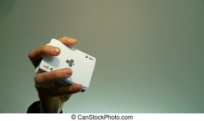 Cards Flying, Casino - Card Trick, Casino