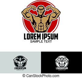 Body builder logo template - Can put your own text below the...