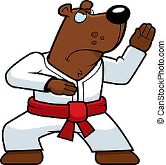 Karate Bear - A cartoon bear doing karate in a gi.